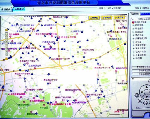 青岛公布6万个监控摄像头分布图