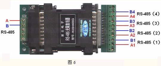 波仕还有1拖8路的RS-485集线器(HUB8485G)。HUB8485G的上位机可以是RS-485,也可以是RS-232,所以HUB8485G可以直接从PC机的RS-232口分出8路RS-485。 四、单环自愈RS-485多机通信方式 单环自愈的RS-485组网方式是由波仕电子在世界上首次提出。单环自愈的RS-485网大大增加了RS-485总线的通信可靠性。解决了RS-485总线断线、接线接头不牢等导致RS-485通信中断的问题。 波仕的485D是一种具有单环自愈功能的1路RS-232到2路RS-48
